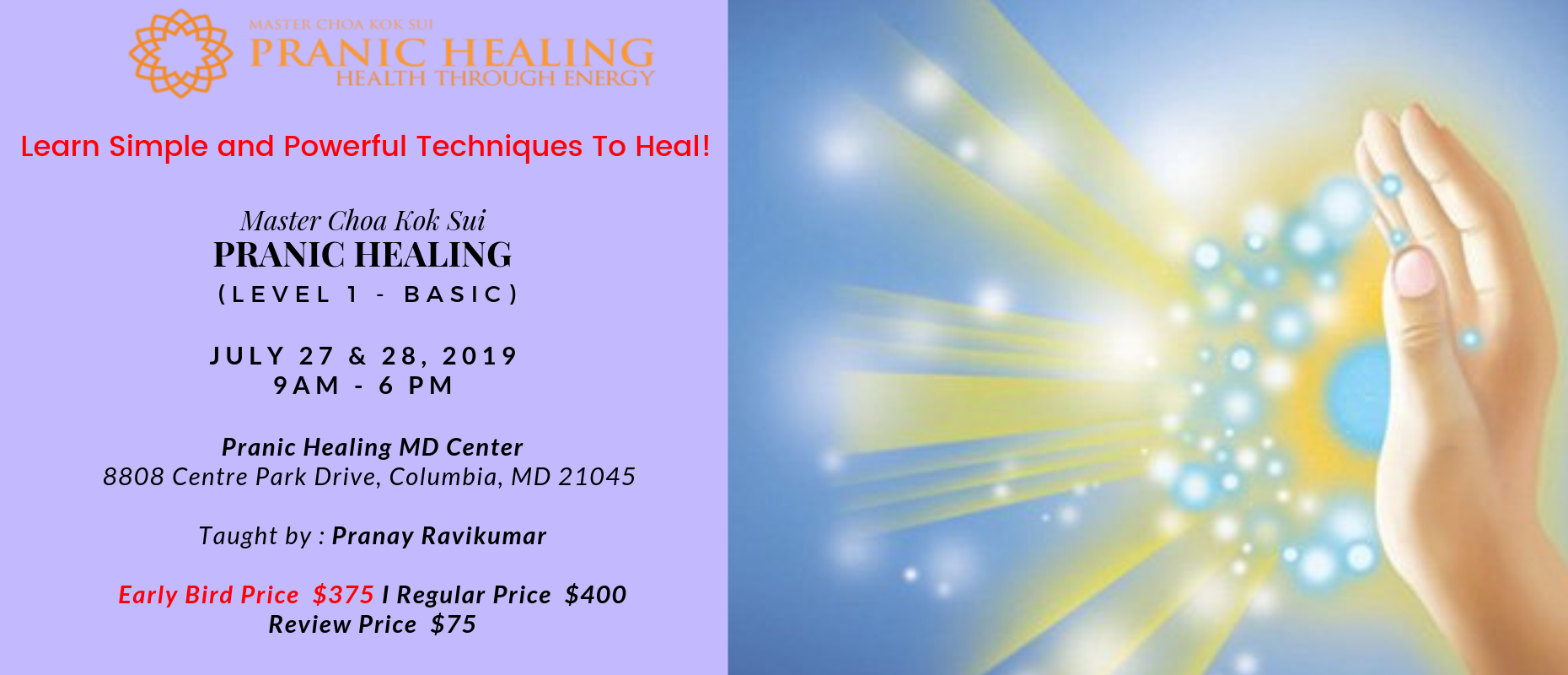 Pranic Healing Level 1 Course