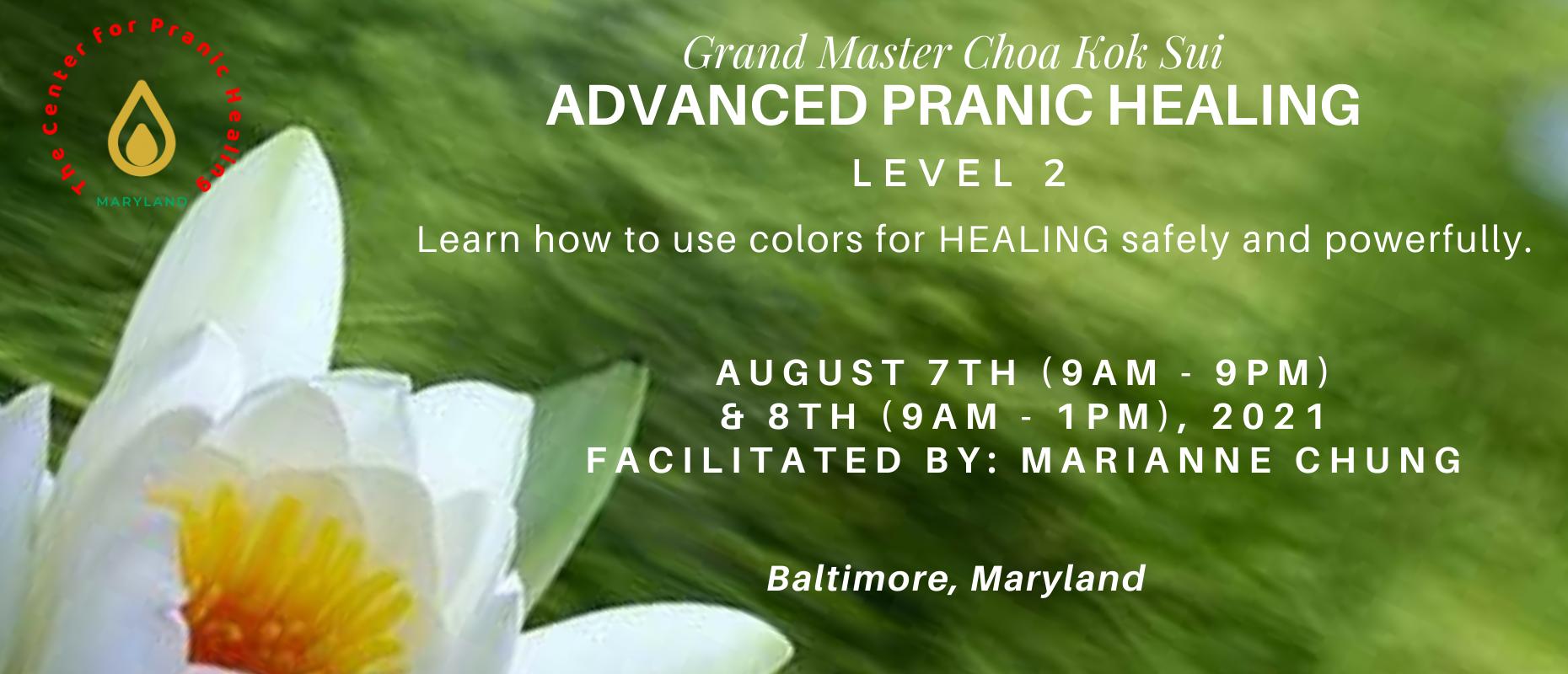 Pranic Healing Level 2 – Advanced Course